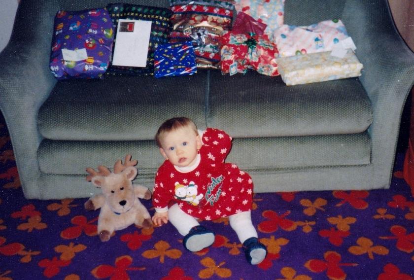Jenny. Christmas 1990
