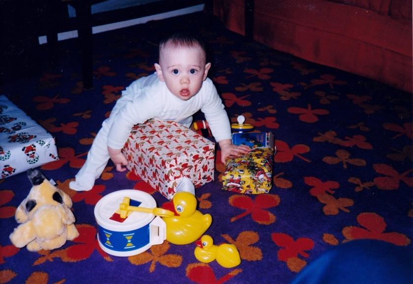 Andrew. Christmas 1987